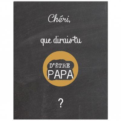 Carte à gratter Annonce de grossesse Chalkboard Papa (8 x 10 cm)