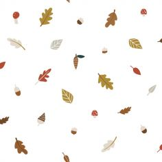 Papier peint intissé Forest Happiness feuilles d'automne (10 m)