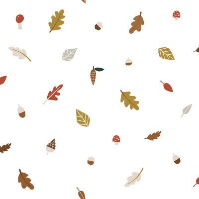Papier peint intissé Forest Happiness feuilles d'automne (10 m)  par Lilipinso