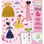Kit de création stickers Robes des 4 saisons - Djeco