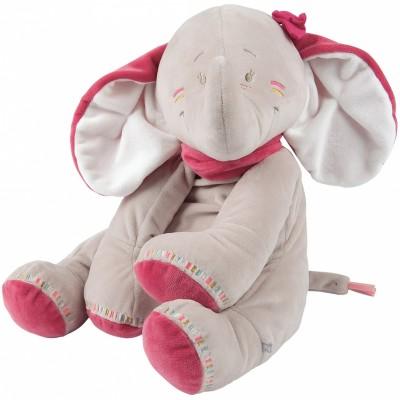 Peluche géante Anna l'éléphante (80 cm) Noukie's