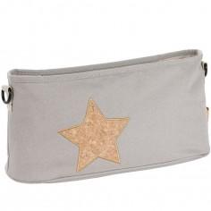 Sac à poussette Casual Pochette Buggy gris clair et étoile