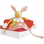 Doudou plat Luminescent lapin (30 cm) - Doudou et Compagnie