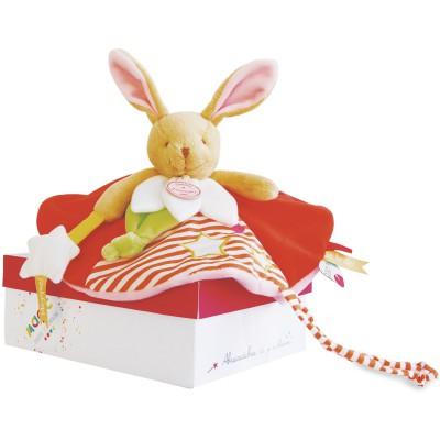 Doudou plat Luminescent lapin (30 cm) Doudou et Compagnie
