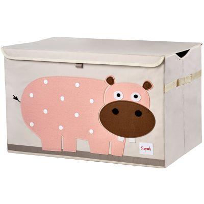 Coffre à jouets caisse de rangement Hippopotame 3 sprouts