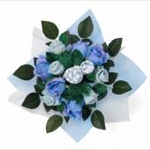 Bouquet de naissance Posy bleu (7 pièces) - BabyBlooms