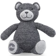 Peluche Natural knit ours gris anthracite (28 cm)