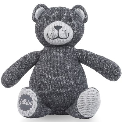 Peluche Natural knit ours gris anthracite (28 cm) Jollein