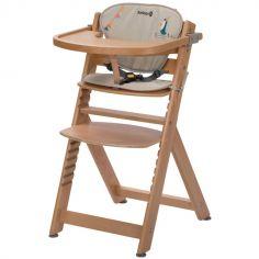 Chaise haute évolutive Timba bois avec coussin Happy Day