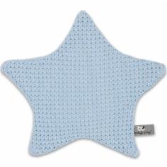 Doudou plat étoile Robust Maille bleu (30 x 30 cm)