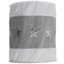 Suspension lampion en tissu Etoile gris et blanc  par Taftan