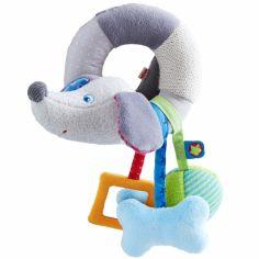 Hochet d'activités Dexter le teckel chien gris