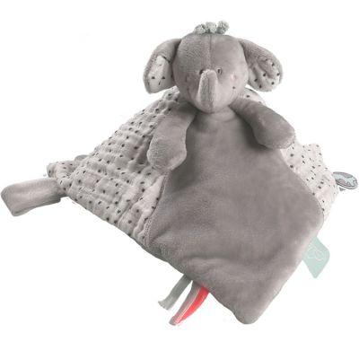 Doudou marionnette Tidou Eléphant Anna & Milo  par Noukie's