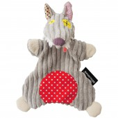 Doudou marionnette Bigbos Le Loup (23 cm) - Les Déglingos
