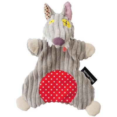 Doudou marionnette Bigbos Le Loup (23 cm) Les Déglingos