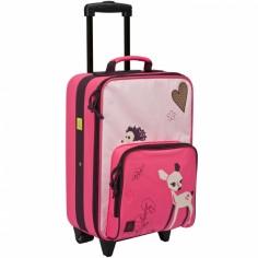 Valise à roulettes 4 kids biche rose