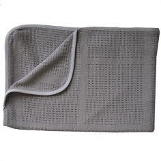 Couverture en bambou bio Ninna Mini Summer New Vintage gris (100 x 75 cm)