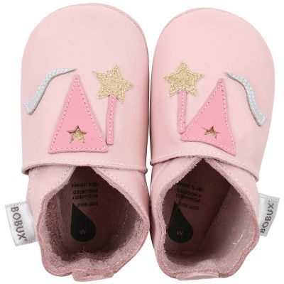 Chaussons bébé en cuir Soft soles Fée roses (9-15 mois)  par Bobux