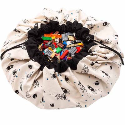 Sac à jouets 2 en 1 réversible phosphorescent Printed Colors Espace Play&Go