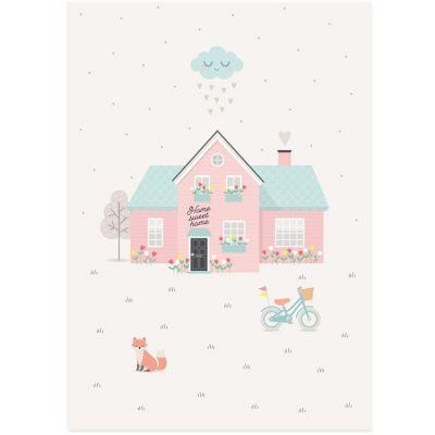 Affiche A3 maison Home sweet home  par Zü