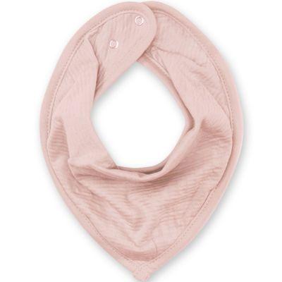 Bavoir bandana vieux rose  par Bemini
