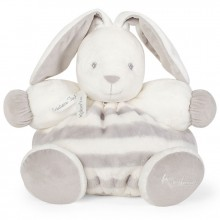 Peluche hochet Bébé Pastel Patapouf lapin gris et crème (30 cm)  par Kaloo