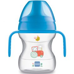 Tasse d'apprentissage avec anses tracteur bleu (190 ml)