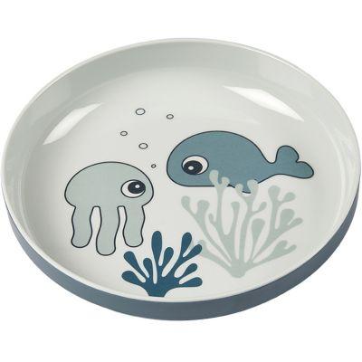 Assiette Yummy Sea Friends bleu  par Done by Deer