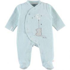 Pyjama chaud mint tigre Anna & Milo (1 mois)