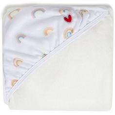Serviette tablier de bain papillon Arc-en-ciel (108 x 107 cm)
