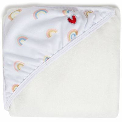 Serviette tablier de bain papillon Arc-en-ciel (108 x 107 cm) BabyToLove