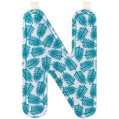 Lettre en tissu à suspendre N (9,5 cm)
