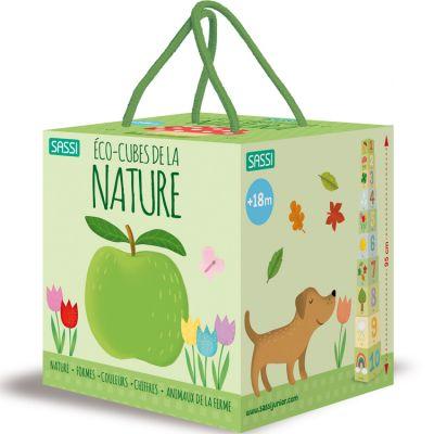 Livre et cubes empilables Eco-cubes de la nature Sassi Junior