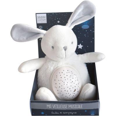 Veilleuse musicale peluche lapin (20 cm)  par Doudou et Compagnie