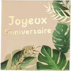 Lot de 16 serviettes en papier anniversaire Safari Graou