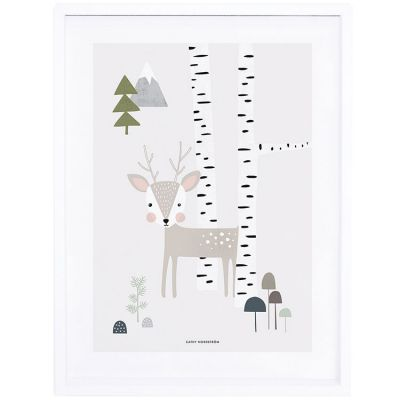 Affiche encadrée In the woods faon (30 x 40 cm)  par Lilipinso