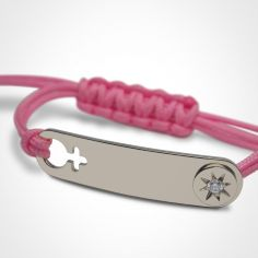 Bracelet I am a Star Fille (or blanc 750°)