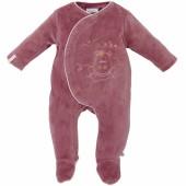 Pyjama chaud Mia et Victoria rose (1 mois : 54 cm) - Noukie's