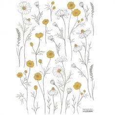 Stickers fleurs de camomille (29,7 x 42 cm)