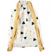 Sac à ficelles Florencia Confettis noir et jaune miel - Nobodinoz