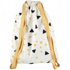 Sac à ficelles Florencia Confettis noir et jaune miel