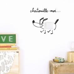 Stickers muraux pour interrupteur Chatouille-moi