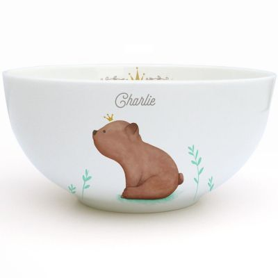 Bol en porcelaine Ourson brun (personnalisable)  par Gaëlle Duval