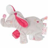 Doudou plat Anna l'éléphante (32 x 34 cm) - Noukie's