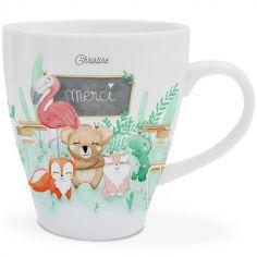 Mug en porcelaine Merci (personnalisable)