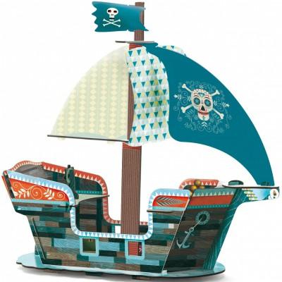 Bateau de pirate 3D   par Djeco