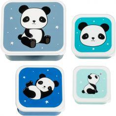 Lot de 4 boîtes à goûter Panda