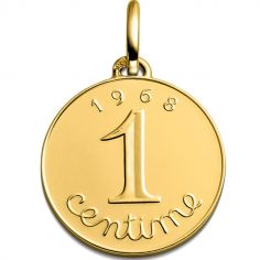 Médaille Centime épi 1968 (or jaune 750°)