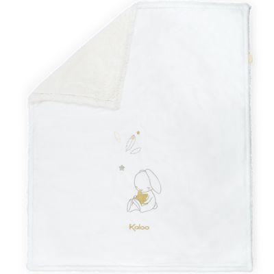 Couverture bébé lapin Home blanc (70 x 85 cm)