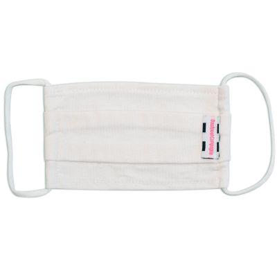 Masque de protection lavable en coton blanc (4-7 ans)